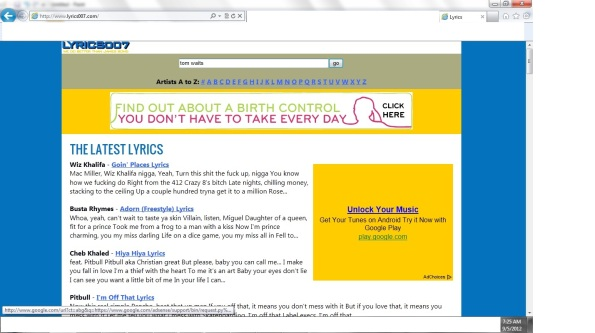 how to show lyrics on google play music