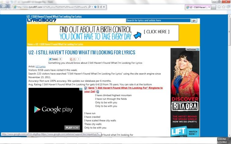Lyrics007 U2 Google Play