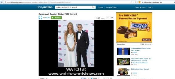 Google Golden Globes Torrent Daily Motion