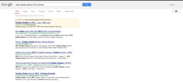 Google Golden Globes Torrent