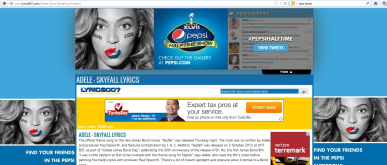 lyrics007 adele pepsi