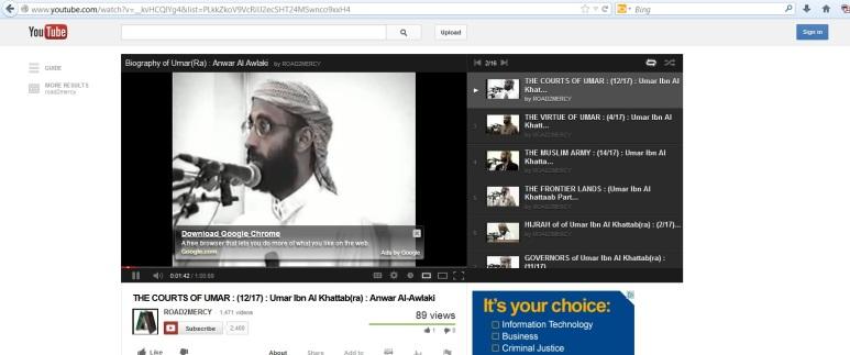 Google Chrome Ad on Terror Video