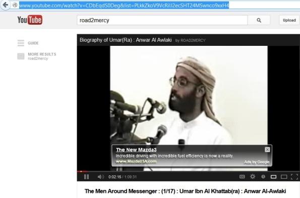 Mazda Ad on Terror Video close up