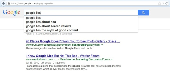 google lies