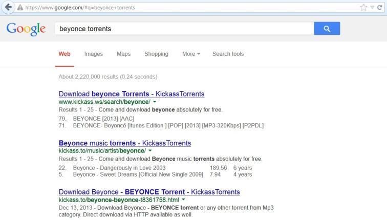 beyonce torrents