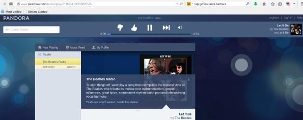 Pandora Beatles