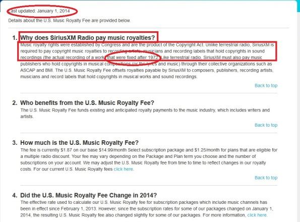 sirius music fee 1