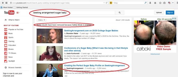 YouTube Seeking A 1
