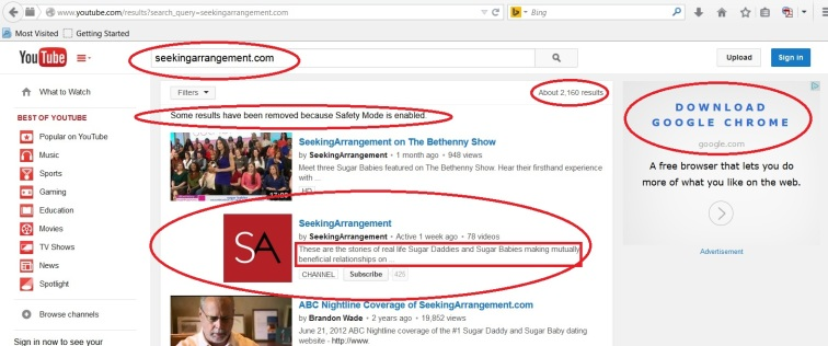YouTube Seeking A 2