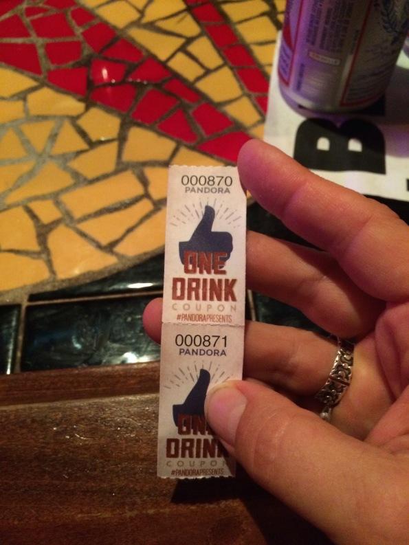 Americana Drink Ticket