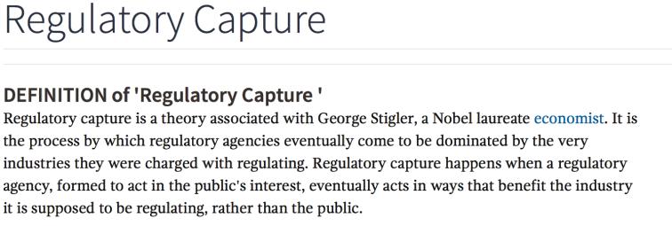 regulatory capture definition
