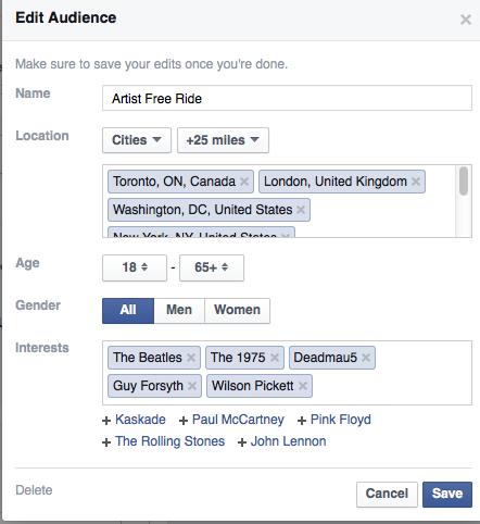 Facebook Artist Names