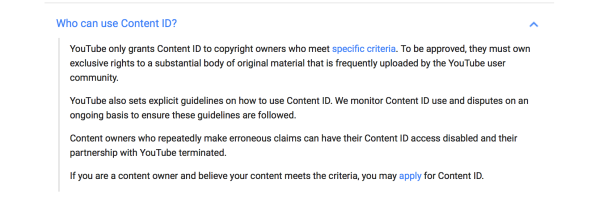 Content ID Use