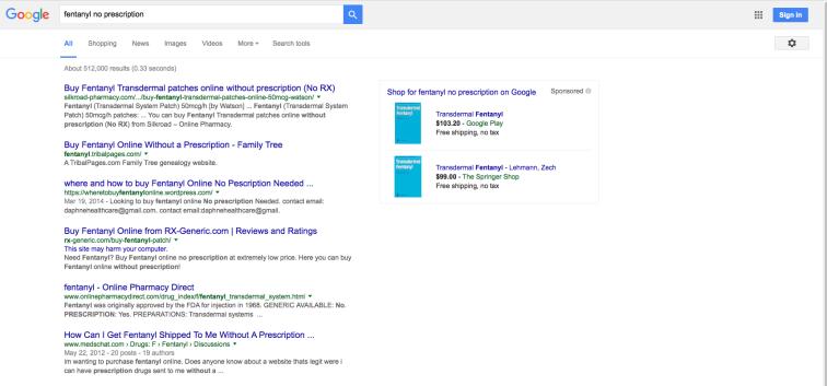 fentanyl Google Search