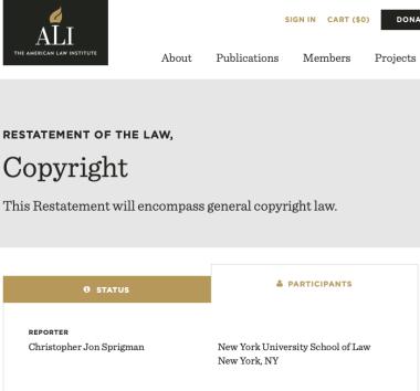 ALI Copyright