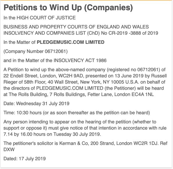 Pledge Windup