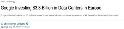 thestreet google data centers in EU
