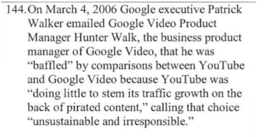 google internal piracy