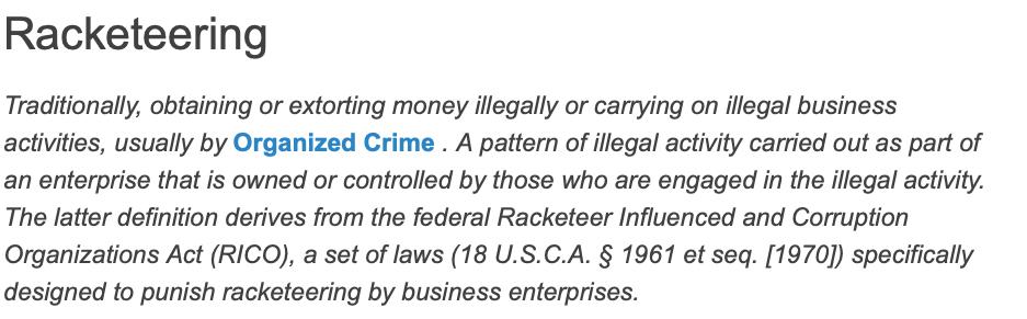 racketeering