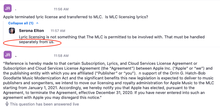 MLC Apple Answer