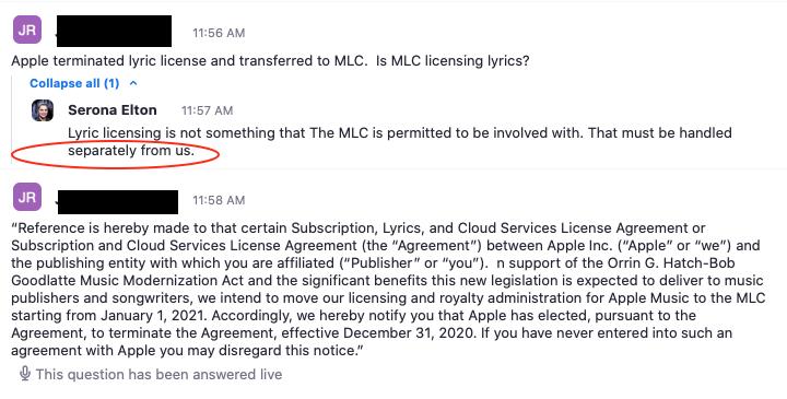 MLC Apple Answer